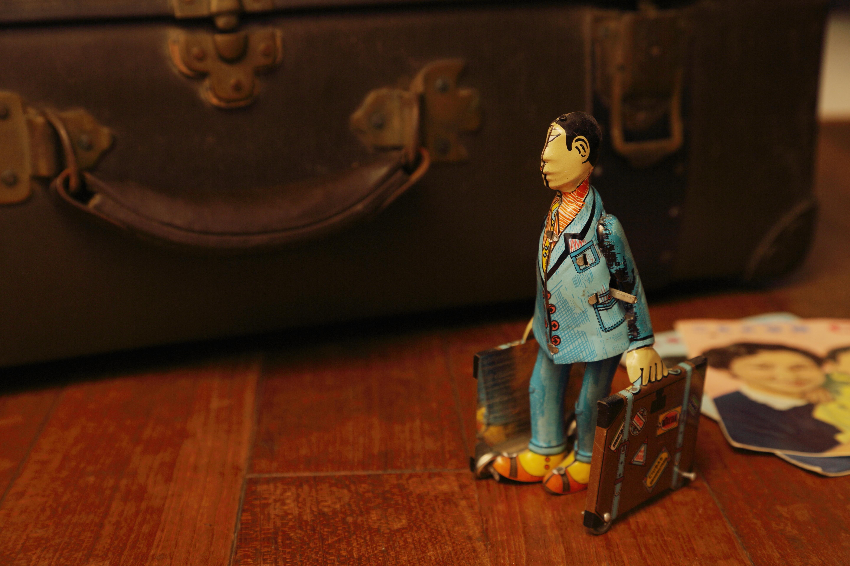 アンティーク鉄玩具1旅する人