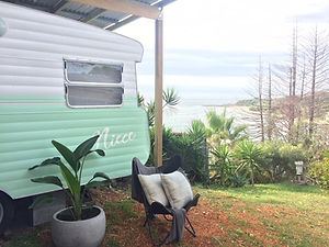 Vintage Viscount caravan central coast.J