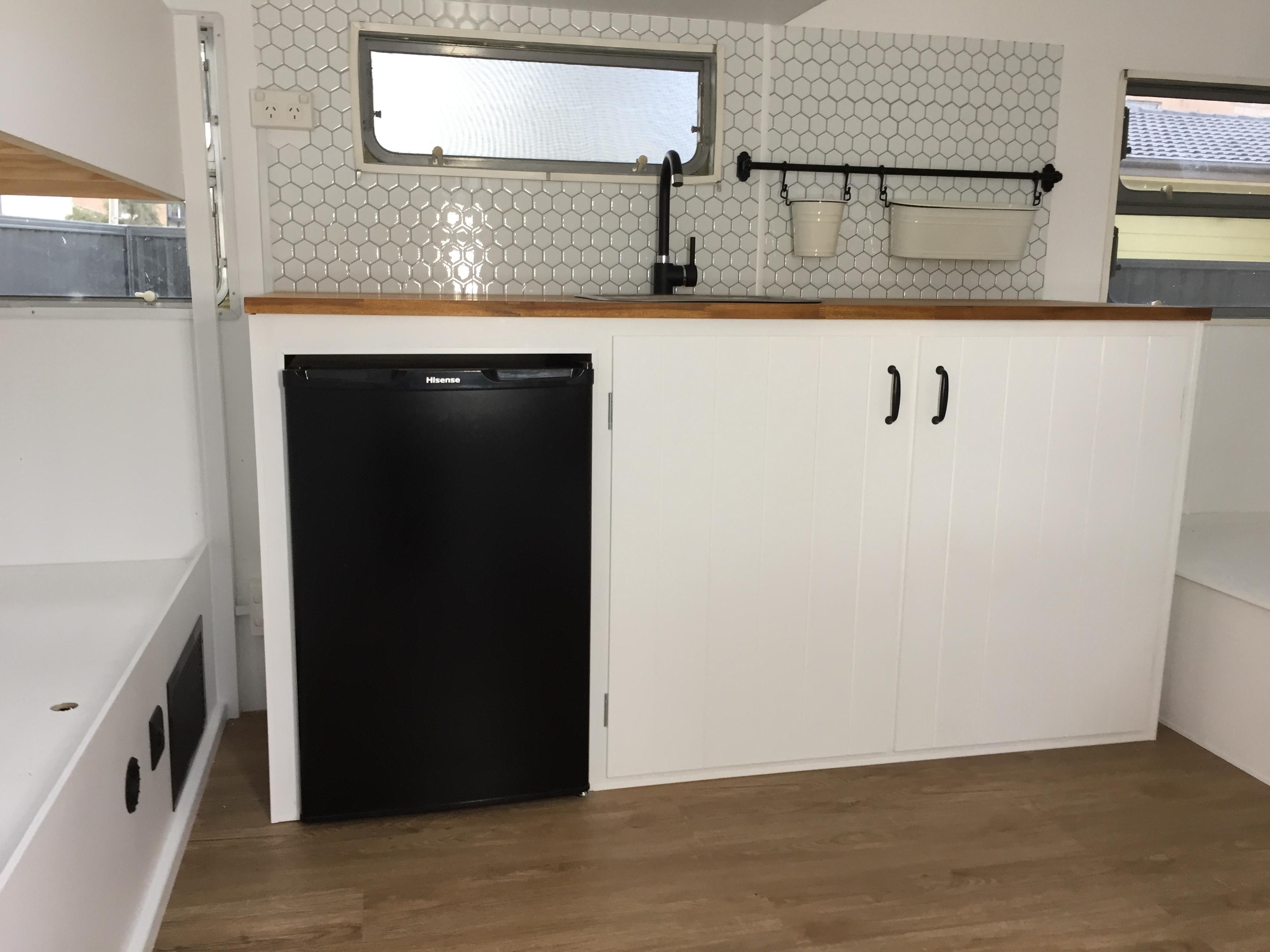 sarah caravan renovation custom kitchen cabinetry