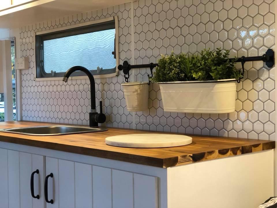 Sarah chesney caravan kitchen splashback renovation
