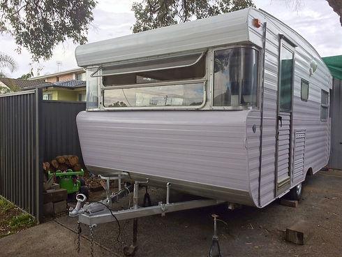 Restored Viscount caravan paint.jpg