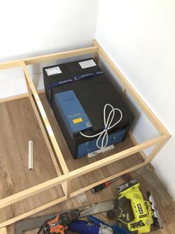 Sarah retro caravan renovation air conditioner