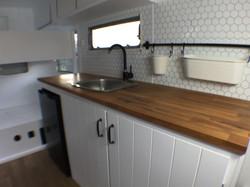 Sarah kitchen in caravan