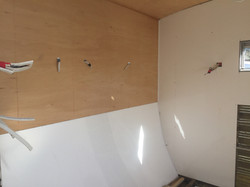 caravan plywood installation