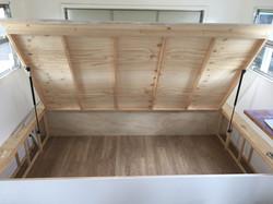 Custom bed in caravan