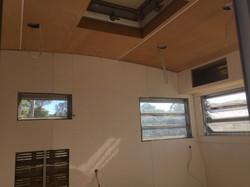 caravan interior plywood installation