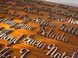 Wooden table names