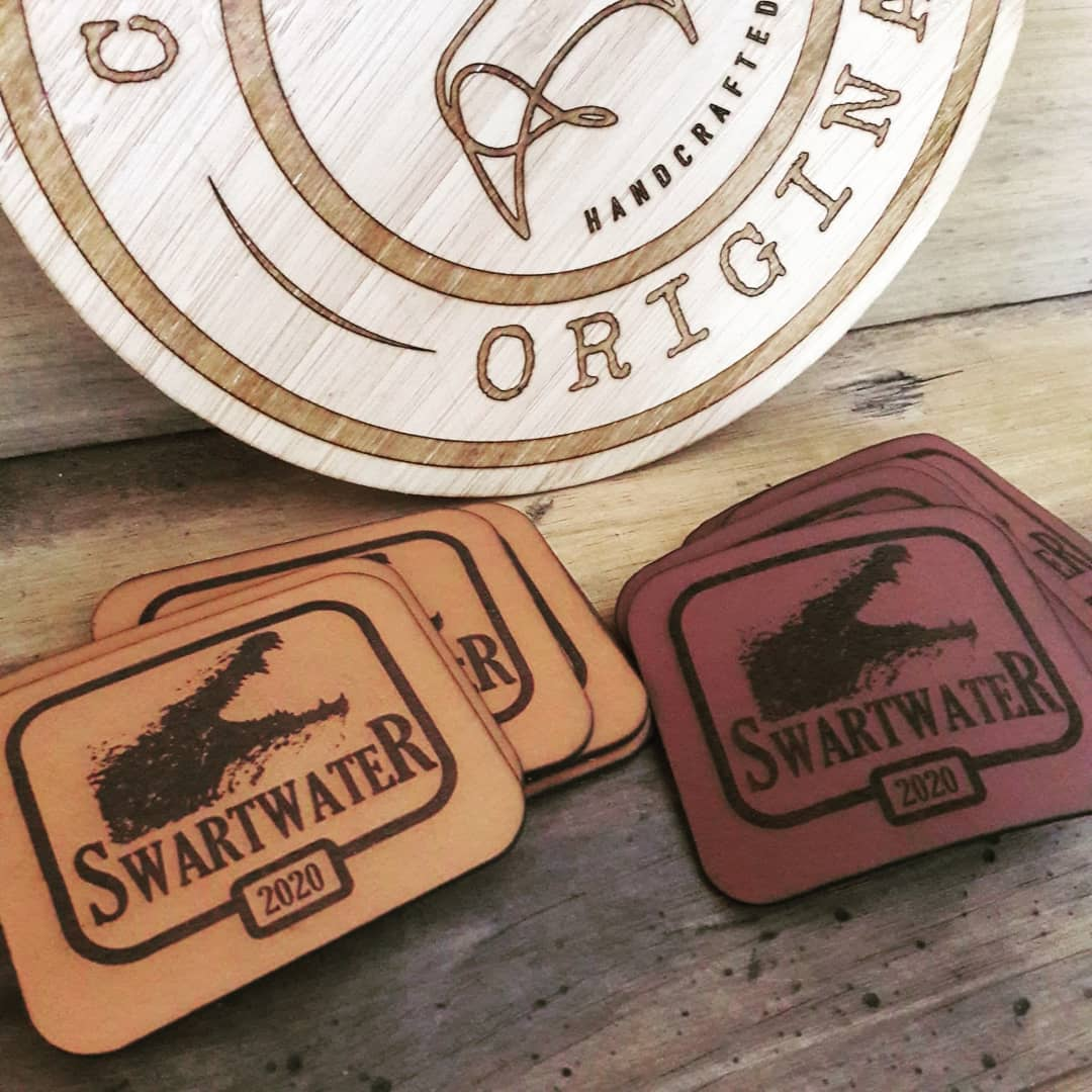 Engraved Leather Plaques