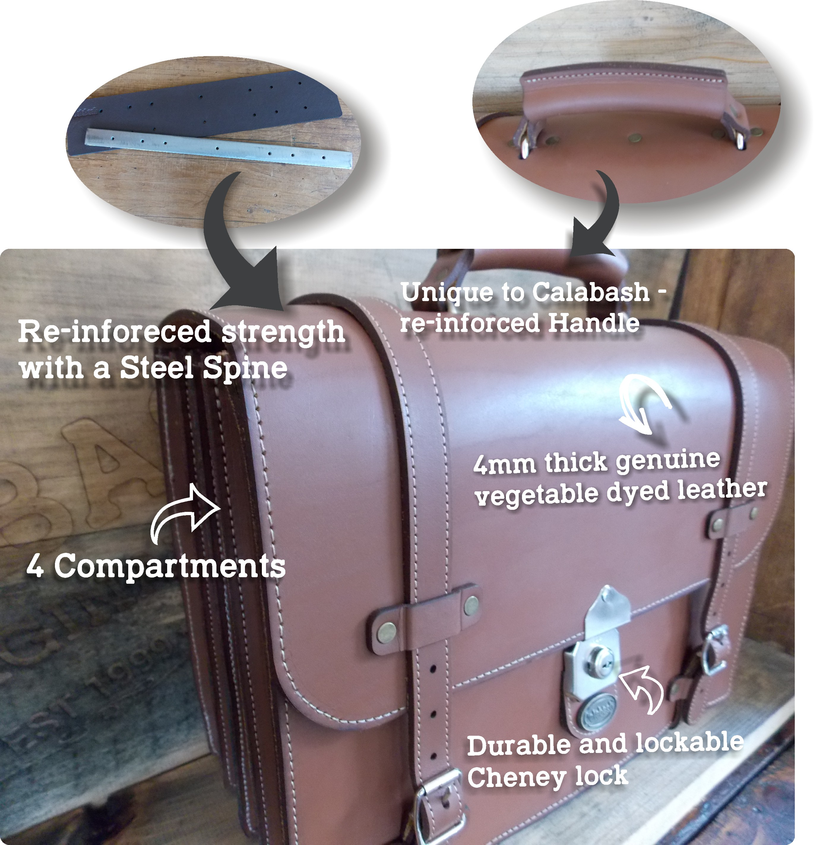 Leather School bag parts