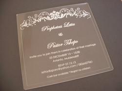 Perspex Invite