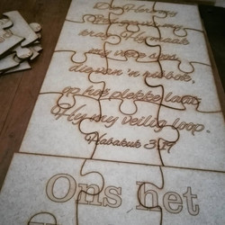 Wooden puzzle cutting