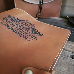 Tan Leather Book Cover
