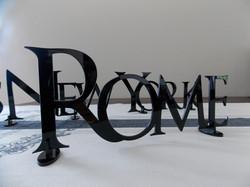 Black Perspex table names