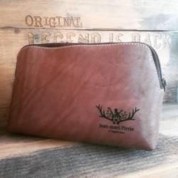Tan Leather Vanity Bag