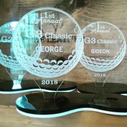 Awards in perspex