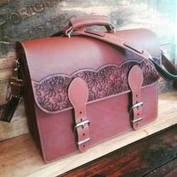 Leather and Lacey Laptop Bag