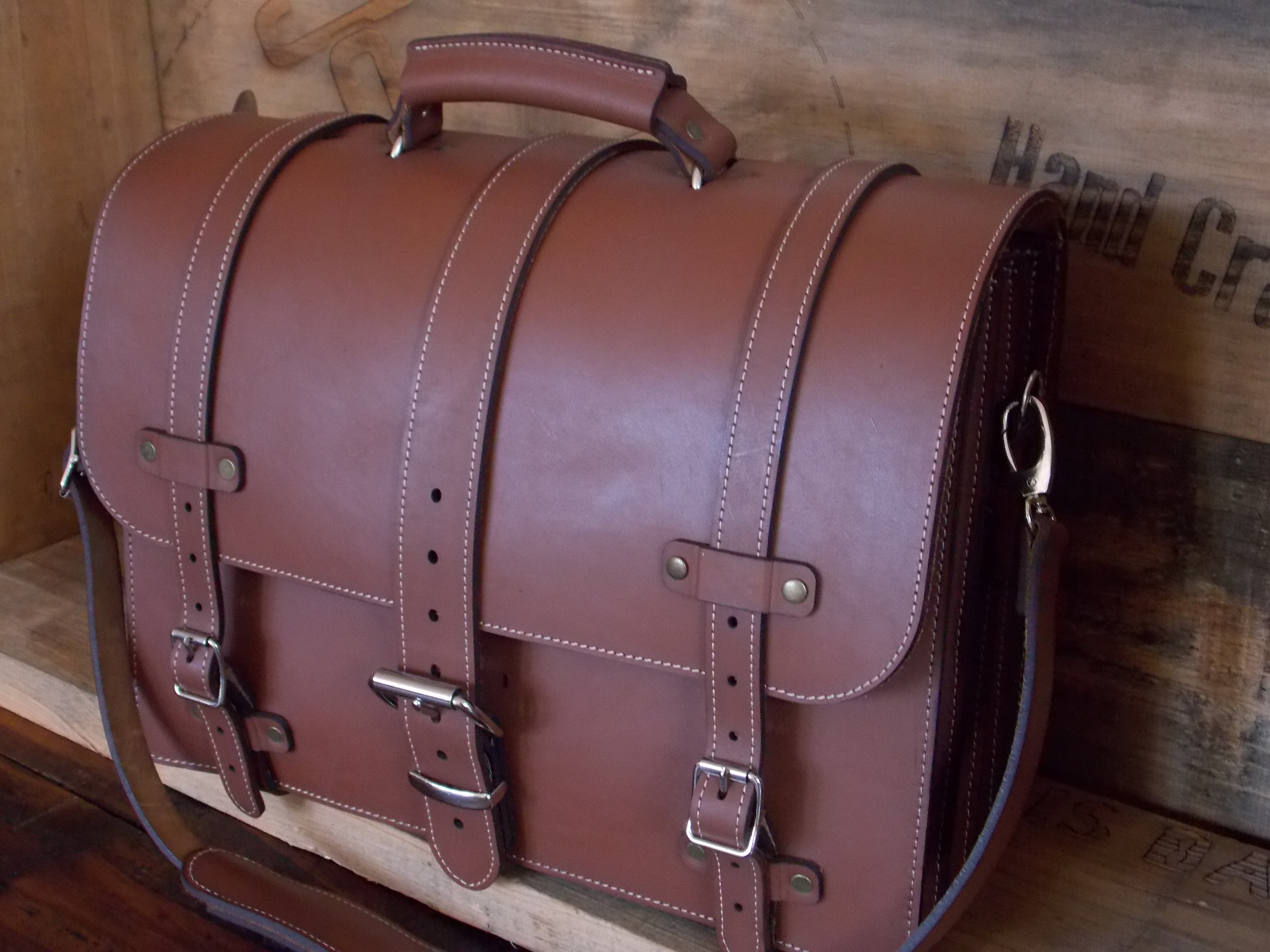 Abernathy & Hale Leather Laptop Bag