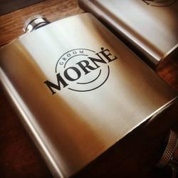 Steel flask engraving