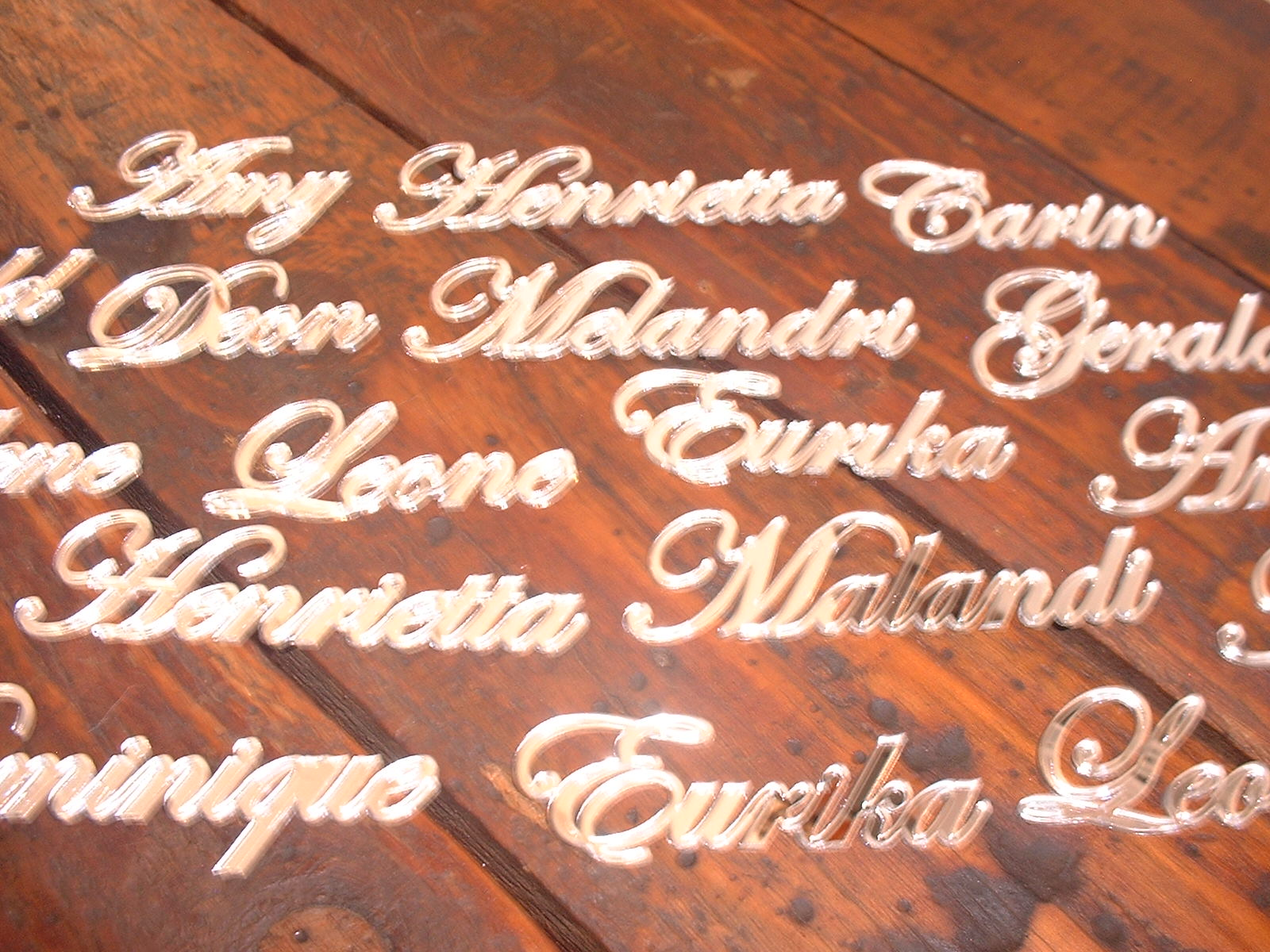 Mirror guest names