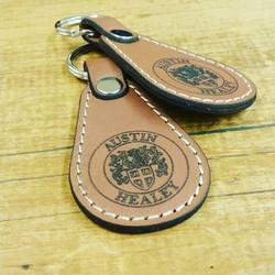 Tear Drop Leather Keyring