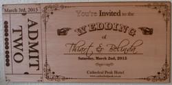 Ply Wood wedding invite