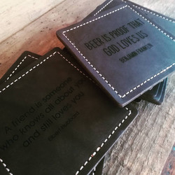 Square Coasters with engraving