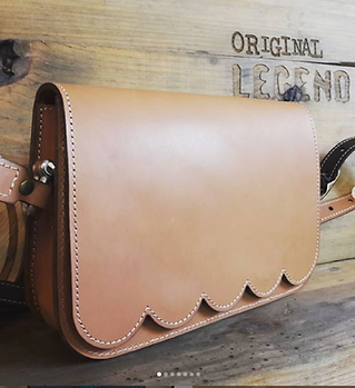 Leather Scalloped Handbag