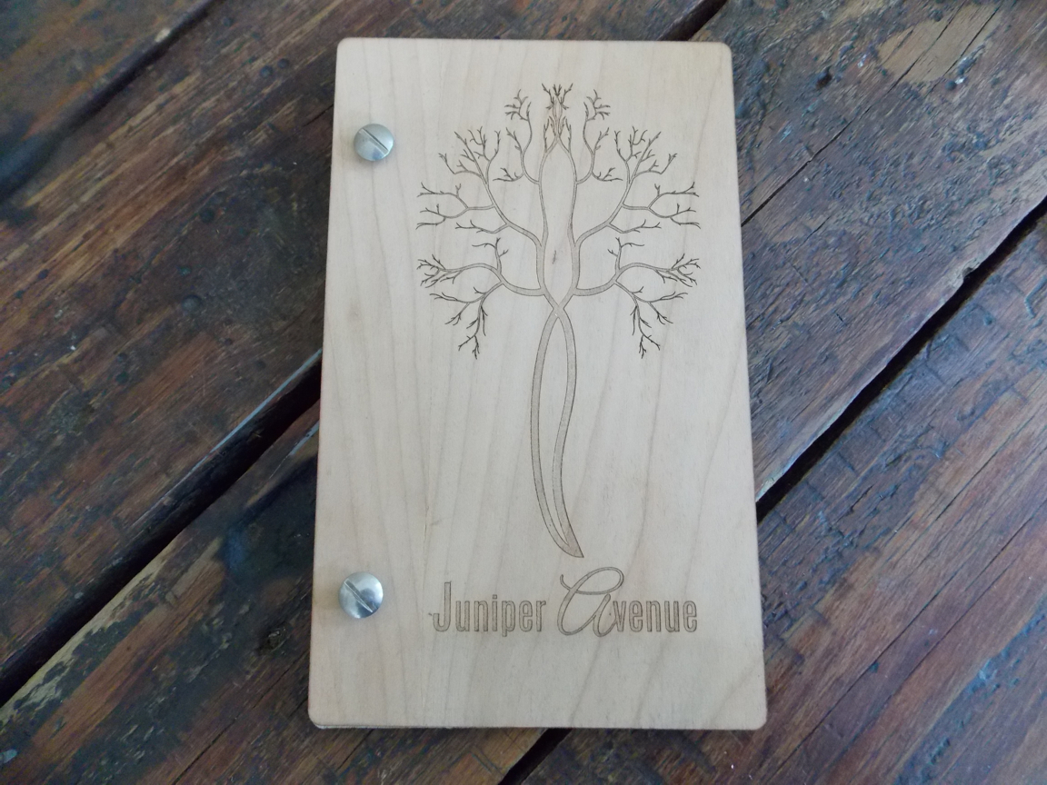 Invite wooden book
