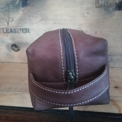 Leather Toiletry Bag Front