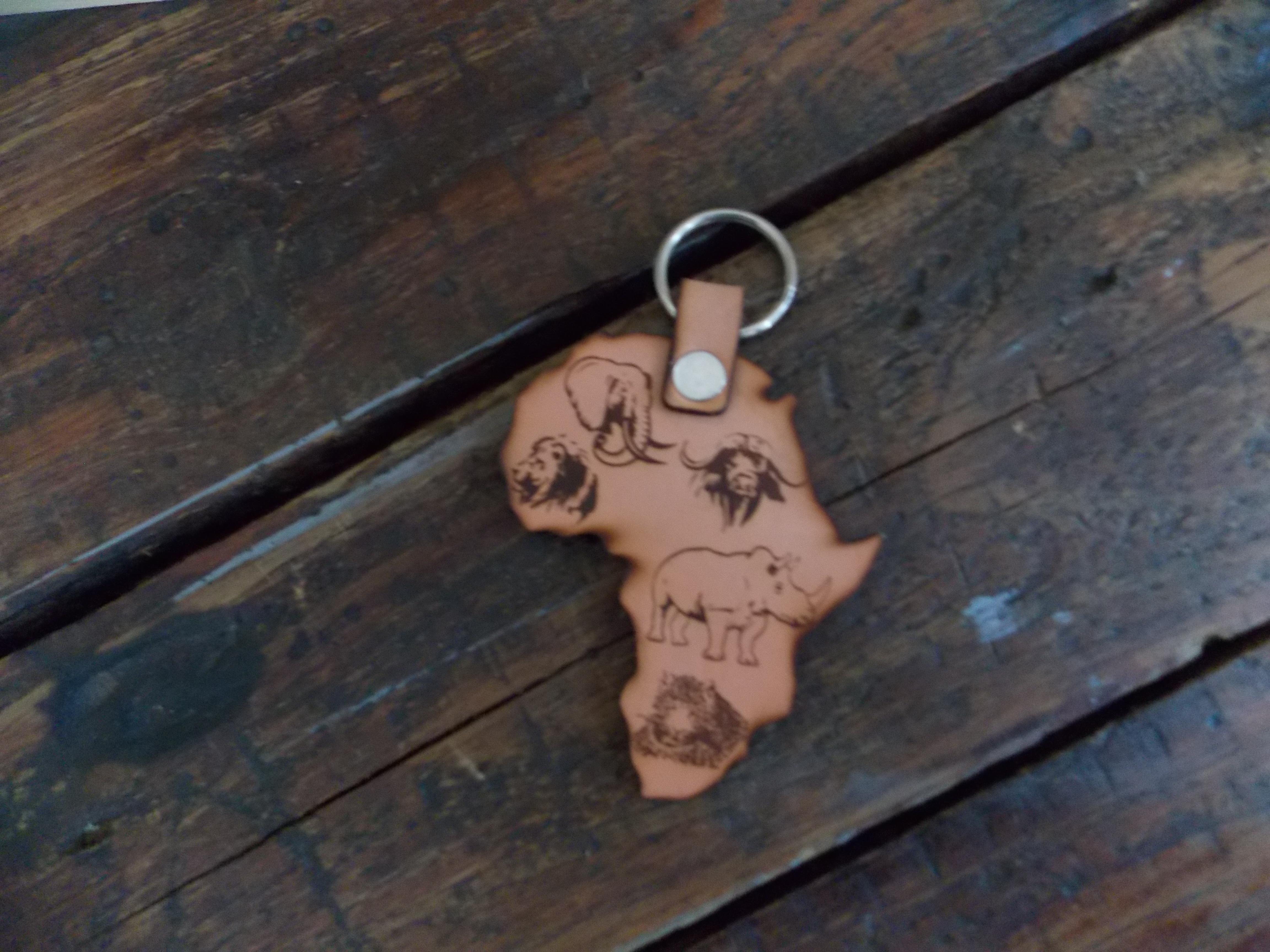 Leather Africa Keyrings