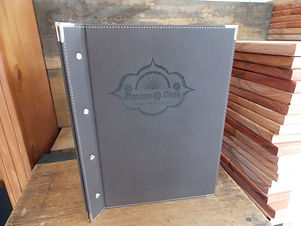 Menu Covers with Engraving