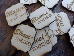 Laser Cut and engraved Badges