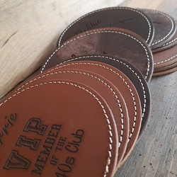 Round Coasters with stitching