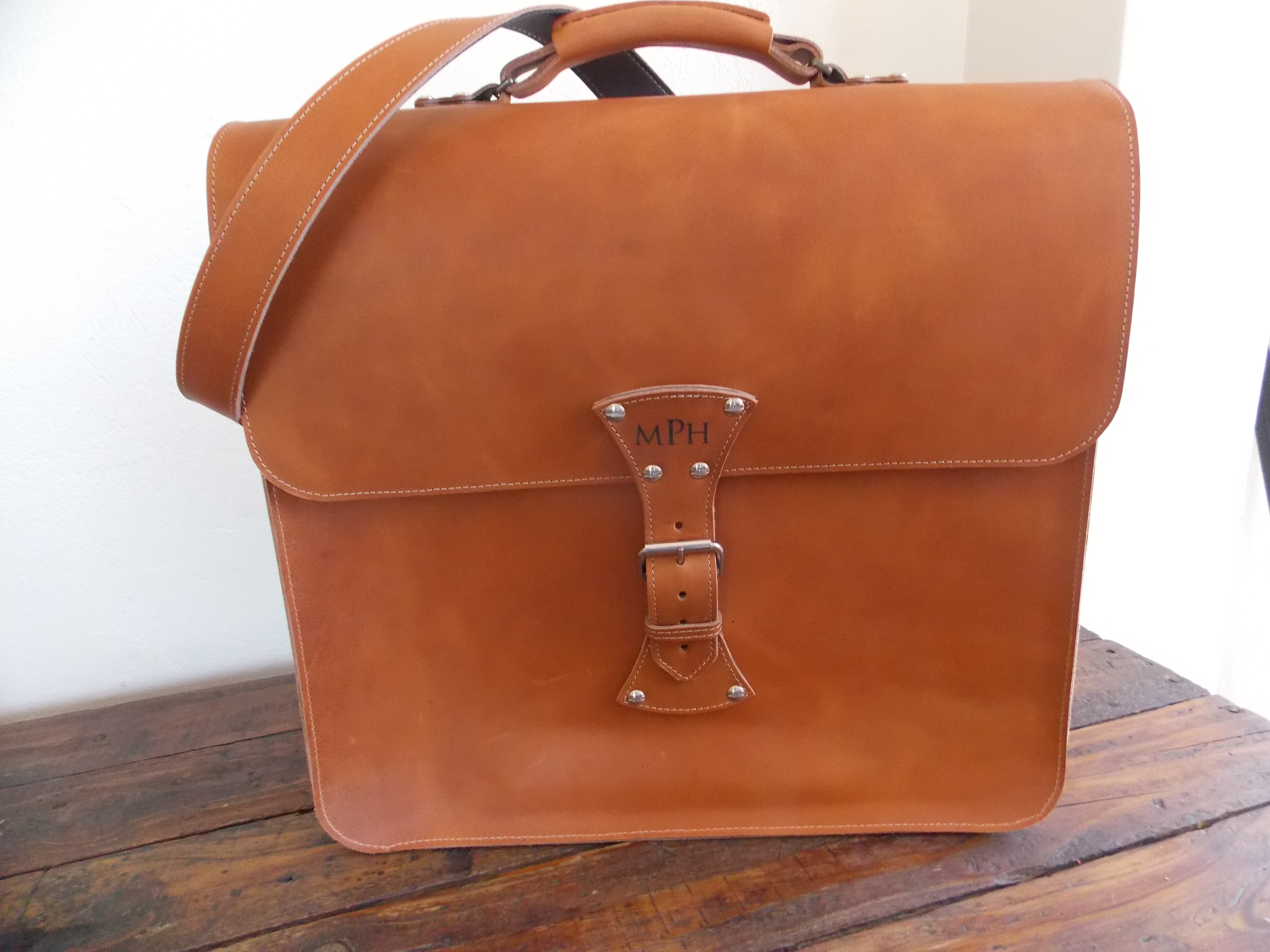 Calabash Leather Tan Bag