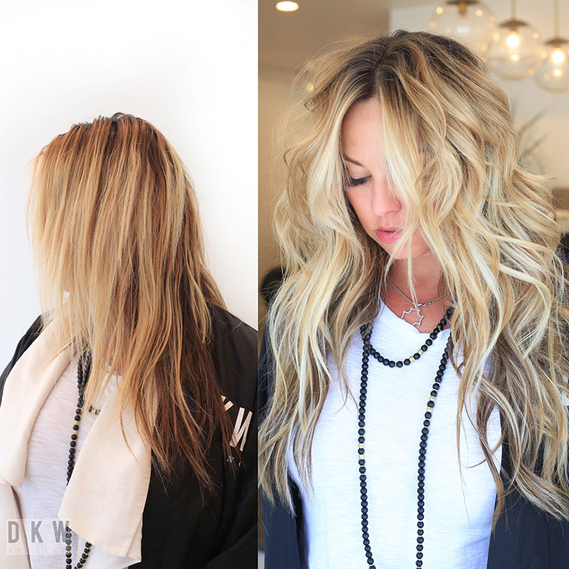 Natural Beaded Row Hair Extensions Hair Salon Delray