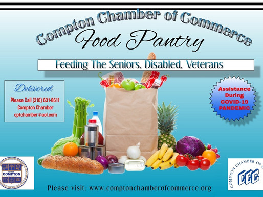 Compton Chamber Food Pantry serving Seniors, Disabled, and Veterans during the COVID-19
