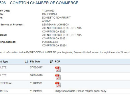 Who is Compton Chamber of Commerce?