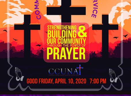 April 10, Good Friday Community Communion Service
