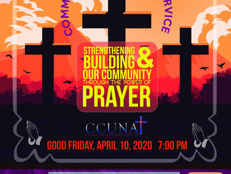 April 10, Good Friday Community Communion Service