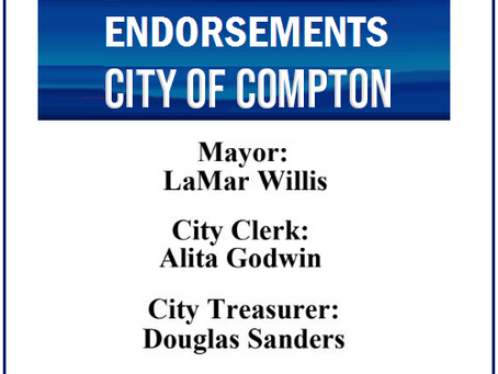 Compton Chamber of Commerce Announces Its Endorsements For April 20 Primary Ballot