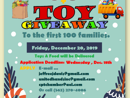 Toy & Food Giveaway; Application Deadline: Dec. 18
