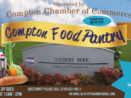 """Compton Chamber Pantry"" to resume operations at Lueders Park Community Ctr. on March 1, 2021"