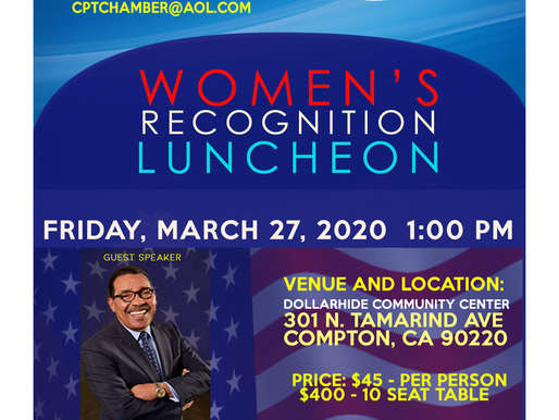 March 27th Women's Recognition Luncheon