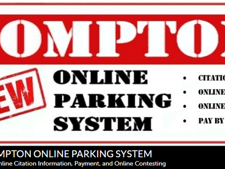 City Of Compton Online Parking System Is Now Live !