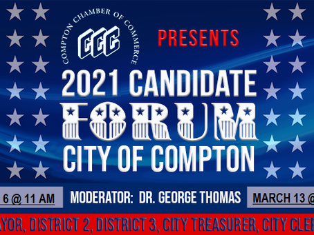 Compton Chamber Presents The 2021 Compton Candidate Forums on March 6th and 13th