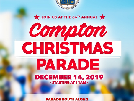 Compton Christmas Parade: December 14, 2019 at 11:00 am.
