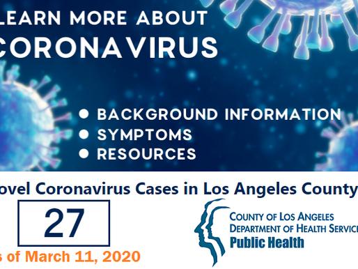Coronavirus cases expand in LA County