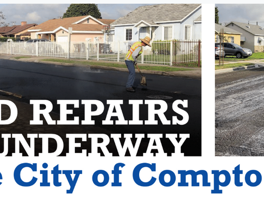 Road Repairs are Underway in Compton