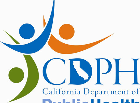 CA Dept. of Public Health Announcement
