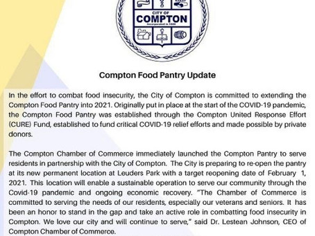Mayor Brown Committed to a Permanent Location for the Chamber Managed Food Pantry